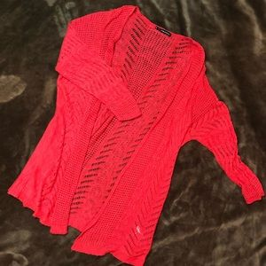 Maurices open front crocheted Cardigan